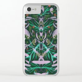 Neon Jungle Party Clear iPhone Case