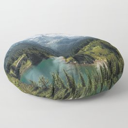 Mountain, Scenic, Rainier, Eunice Lake, National Park, Parks 2016 Floor Pillow