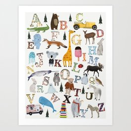 little nature alphabet Art Print