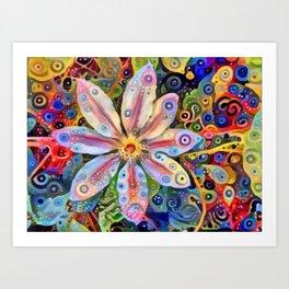 Big Clematis Art Print