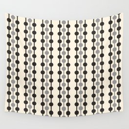 Geometric Droplets Pattern Series in Black Gray Cream Wall Tapestry