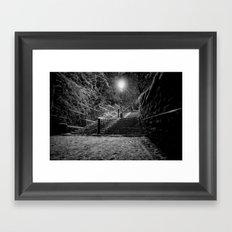 The Steps In The Snow Framed Art Print