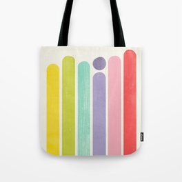 Rainbow Color Stripes Tote Bag