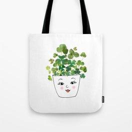 Shamrock Face Vase Tote Bag