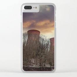 Sunset At Ironbridge Power Station Clear iPhone Case