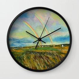 Scotland Double Rainbow Wall Clock