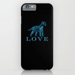 Giant Schnauzer LOVE Motif Portrait Sweet iPhone Case