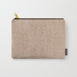 Beige flax cloth texture abstract Carry-All Pouch