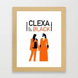 Clexa is the new black Framed Art Print
