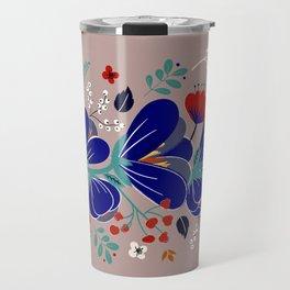 Folk Spring Flowers blooms - number1 Travel Mug