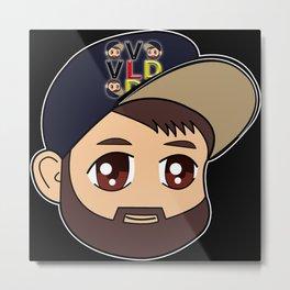 VlogDave Logo  Metal Print
