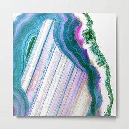 Agate Geode Metal Print