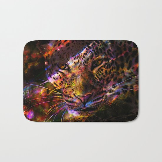 Galaxy Leopard Bath Mat