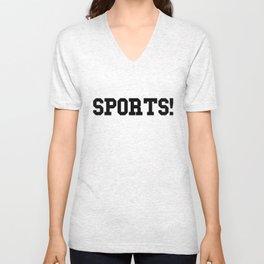 Sports - version 1 - black Unisex V-Neck