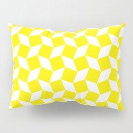 Yellow Op Art Pattern Pillow Sham