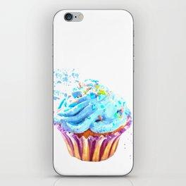 Cupcake watercolor illustration iPhone Skin