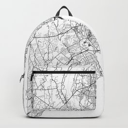 New Haven Map White Backpack