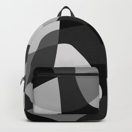 Mid Century Modern Abstract Rock Layers Charcoal Backpack