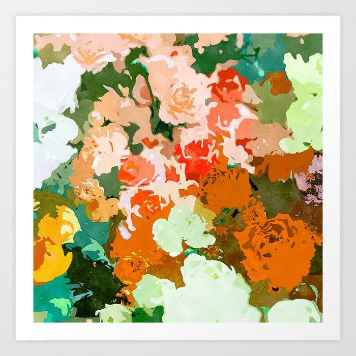 Velvet Floral Art Print