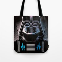 darth vader Tote Bags featuring Darth Vader by cocoyponce