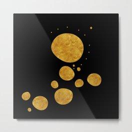 """Golden dots & black background"" Metal Print"