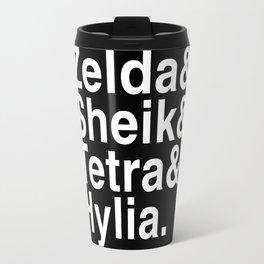 Zelda & Sheik & Tetra & Hylia helvetica list Travel Mug
