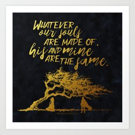 Wuthering Heights - Souls - Gold Foil Art Print