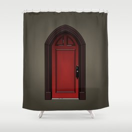 Red door in The Haunting of House Shower Curtain