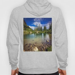 Mountain Lake in the Mt Rainier National Park Hoody