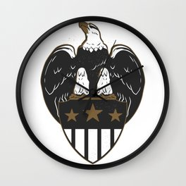 Eagle with Coat of Arms Wall Clock