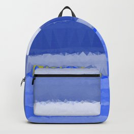 Blue White Abstract Low Poly Geometric Triangles Backpack