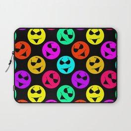 Smiley Bikini Bright Neon Smiles on Black Laptop Sleeve