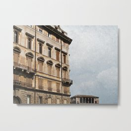 Old apartment building in downtown Rome, Italy Metal Print