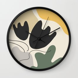 Organic Shapes Flower Still Life Wall Clock