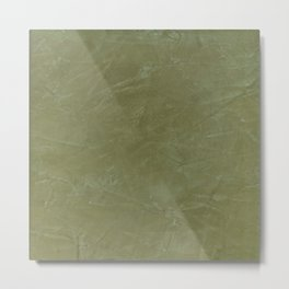 Italian Style Tuscan Olive Green Stucco - Luxury - Neutral Colors - Home Decor - Corbin Henry Metal Print