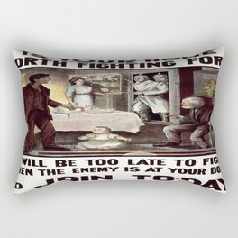 Vintage poster - Is Your Home Worth Fighting For? Rectangular Pillow