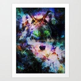 ASCTD Galaxy  Wolf Art Print