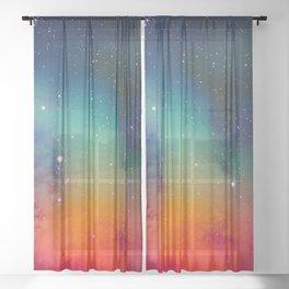 Deep Space Explorer No5 Sheer Curtain