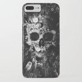 Garden Skull Dark B&W iPhone Case