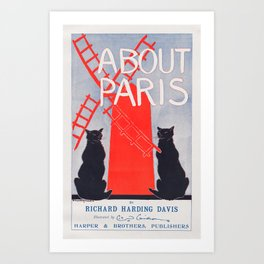 About Paris by Richard Harding Davis (c. 1895) Art Print
