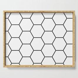 Minimalist Black and White Geometrical Pattern Serving Tray