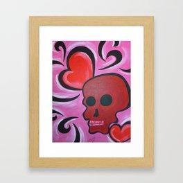 Love Skull Framed Art Print
