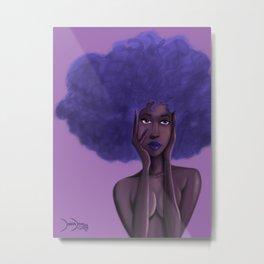 Afro Blu Metal Print