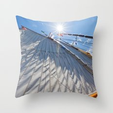 White Sails and Sunshine Throw Pillow