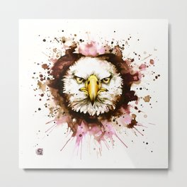"""Into the mirror"" n°6 The eagle Metal Print"