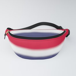 Red White and Blue Gradient Ombré Fanny Pack
