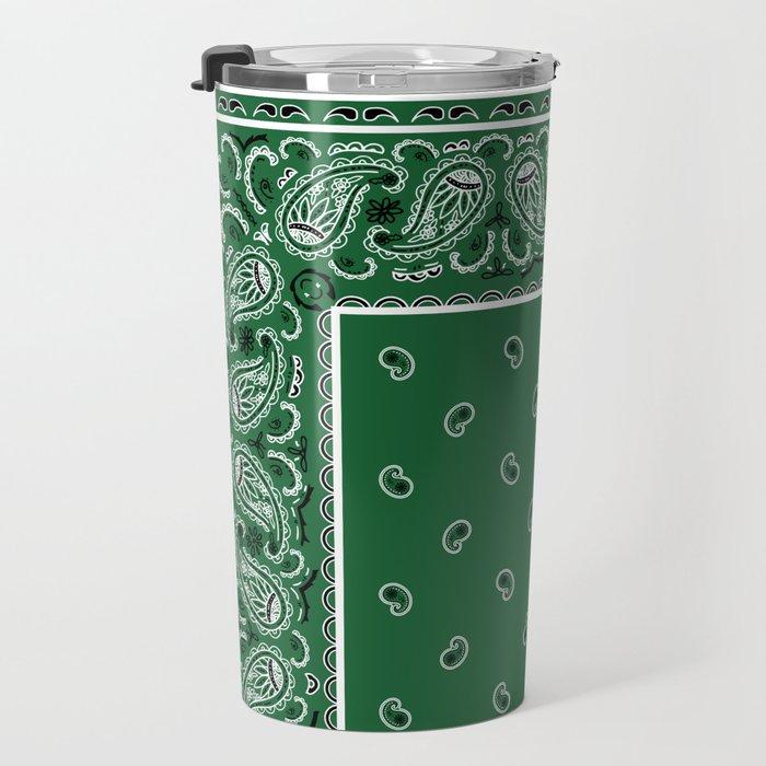 Classic Green Bandana Travel Mug