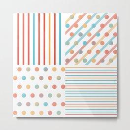 Simple saturated pattern Metal Print