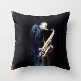 BlueTrane Throw Pillow