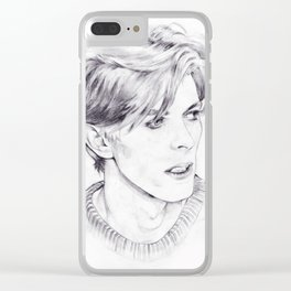 David Bowie - Ziggy Stardust - The Man Who Fell To Earth - Thin White Duke Clear iPhone Case